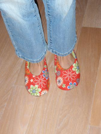 Chaussons rouges Katell