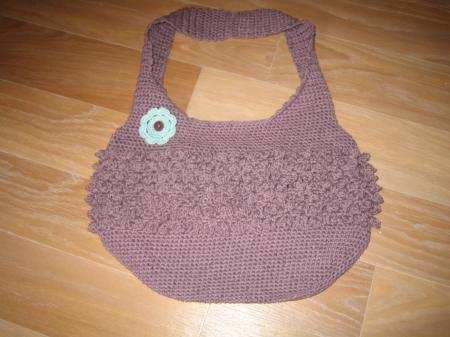 Sac mauve point scoubidou !